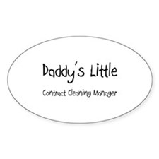 Daddy's Little Contract Cleaning Manager Decal