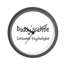 Daddy's Little Consumer Psychologist Wall Clock