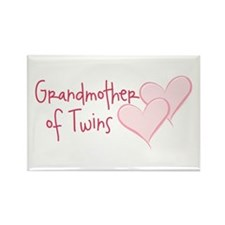 Grandmother of Twins Rectangle Magnet