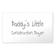 Daddy's Little Construction Buyer Decal