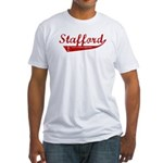 Stafford (red vintage) Fitted T-Shirt