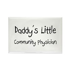 Daddy's Little Community Physician Rectangle Magne