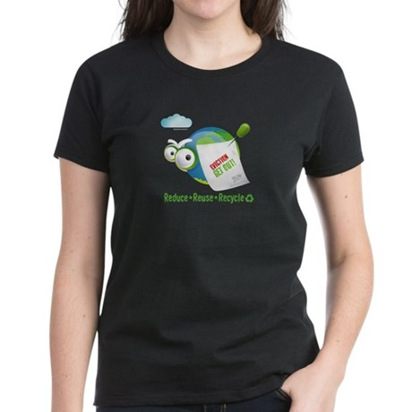 Eviction from Earth Funny Women's Dark T-Shirt