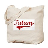 Tatum (red vintage) Tote Bag