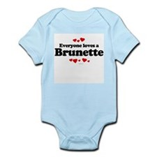Everyone loves a Brunette ~  Infant Creeper
