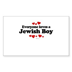 Everyone loves a Jewish Boy ~ Sticker (Rectangula
