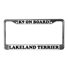 K9 On Board Lakeland Terrier License Plate Frame