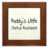 Daddy's Little Clerical Assistant Framed Tile
