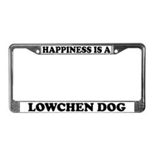 Happiness Is A Lowchen License Plate Frame