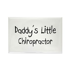 Daddy's Little Chiropractor Rectangle Magnet