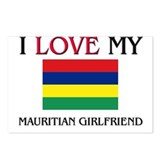 I Love My Mauritian Girlfriend Postcards (Package