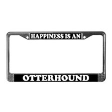 Happiness Is An Otterhound License Plate Frame