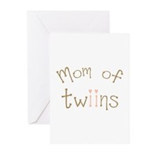 Mom of Twin Girls Twiin Greeting Cards (Pk of 20)