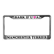 Bark Manchester Terrier License Plate Frame