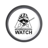 Neighborhood Watch ~  Wall Clock