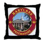 Maryland Masons Throw Pillow