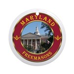 Maryland Masons Ornament (Round)
