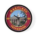 Maryland Masons Wall Clock