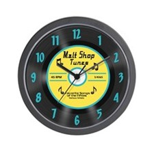50's 45 Record Wall Clock, Yellow