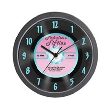 50's 45 Record Wall Clock, Pink