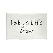Daddy's Little Broker Rectangle Magnet