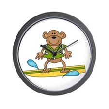 Monkey Surfer Wall Clock