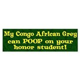 Honor Student Poop Congo Af Grey Bumper Bumper Sticker