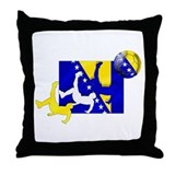 Bosnia Soccer Football Throw Pillow