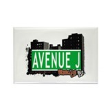 AVENUE J, BROOKLYN, NYC Rectangle Magnet (10 pack)