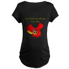 China in Handcuffs Maternity Dark T-Shirt