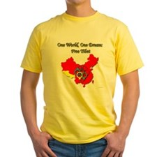 China in Handcuffs Yellow T-Shirt