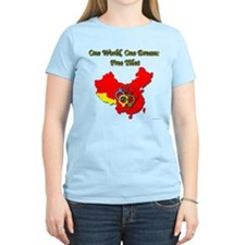 China in Handcuffs Women's Light T-Shirt