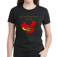 China in Handcuffs Women's Dark T-Shirt