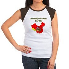 China in Handcuffs Women's Cap Sleeve T-Shirt