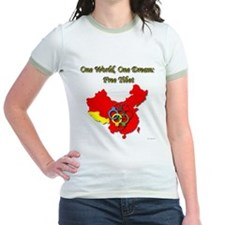 China in Handcuffs Jr. Ringer T-Shirt