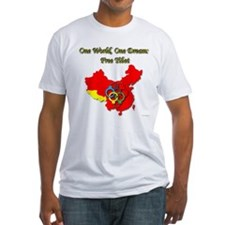 China in Handcuffs Fitted T-Shirt