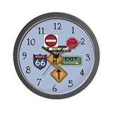 Road Signs Wall Clock