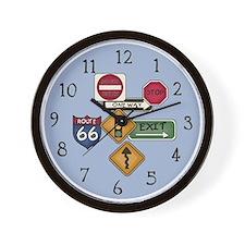Road Signs Wall Clock