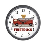 Firetruck Wall Clock