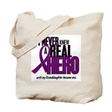 Never Knew A Hero 2 Purple (Granddaughter) Tote Ba