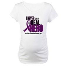 Never Knew A Hero 2 Purple (Grandson) Shirt