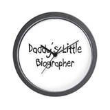 Daddy's Little Biographer Wall Clock