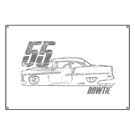 55 Bowtie Shoebox Garage Banner