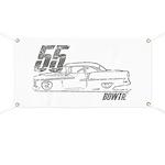 55 Bowtie Shoebox Garage Banner