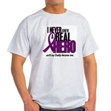 Never Knew A Hero 2 Purple (Daddy) T-Shirt