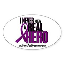 Never Knew A Hero 2 Purple (Daddy) Oval Decal