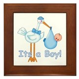 It's a Boy! Stork Framed Tile