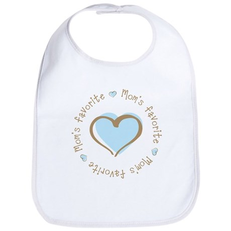 Mom's Favorite Boy Heart Bib