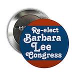 Re-elect Barbara Lee campaign button