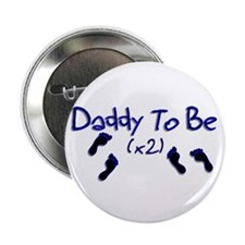 "Daddy To Be (x2) 2.25"" Button"